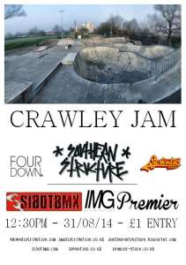 SIBOTBMX IS BACK THIS YEAR TO SPONSOR THE CRAWLEY 2014 BMX JAM WITH SOME HELP FROM IT'S MAJOR DISTROS IMG-4DOWN-SEVENTIES