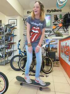 SMILEY WILD GIRL SHANNON TAKES UP BOARDING WITH SIBOTBMX,THIS MADE ONE JUST CAN'T STOP SMILING YOU WILL LOVE HERE!!!