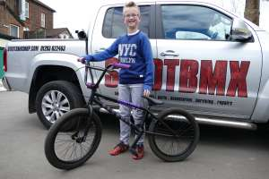 "Every week new bmx riders like Theo come to SIBOTBMX for there bikes because we treat them like BMXERS not £££££££.This time Theo chose the United Recruit Jr 20""tt Black/Purple for his firat BMX."